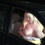 Seductive milf with big tits in outdoor sex session