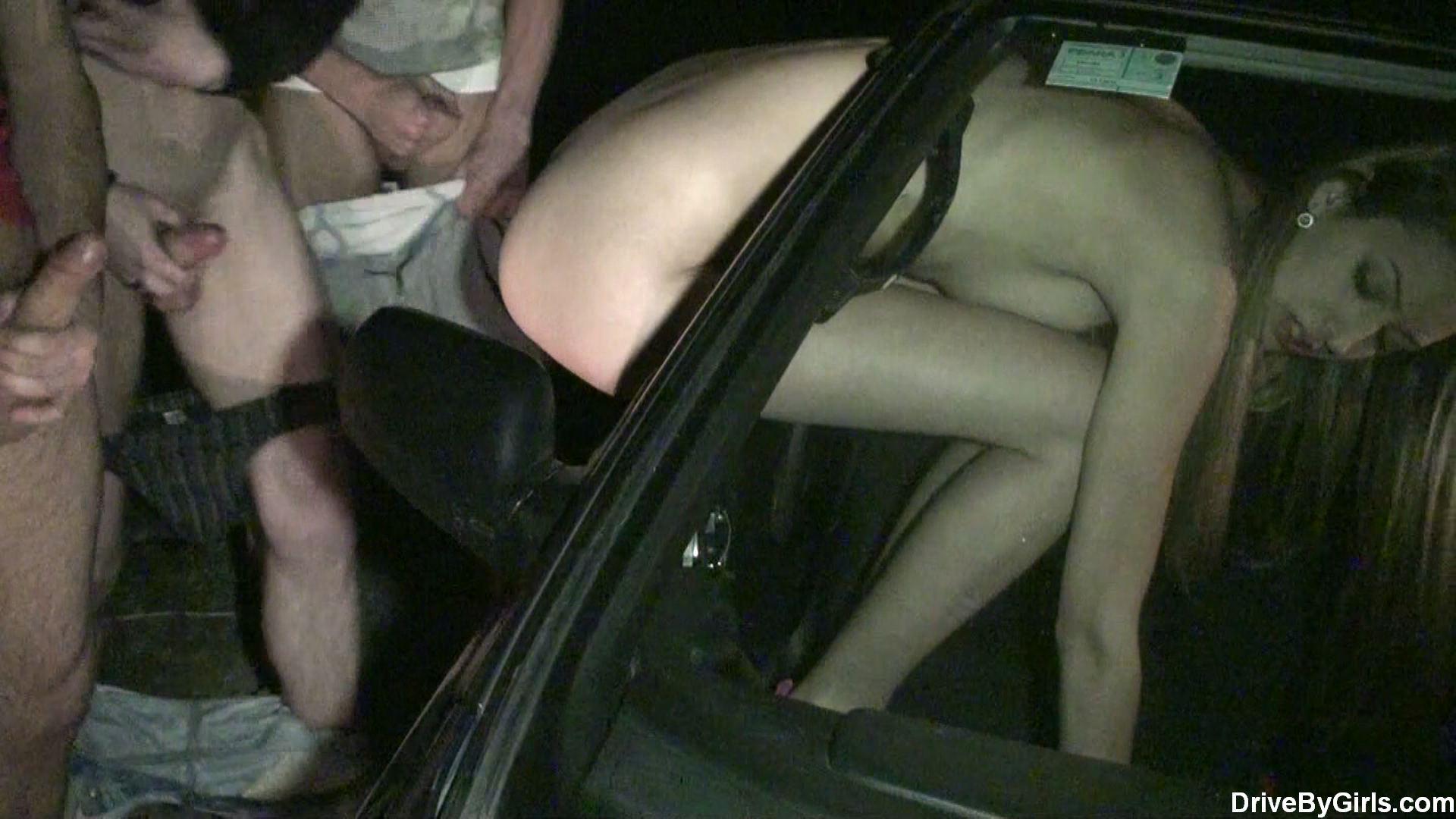 3 guys fuck a local posh dogging cum slut