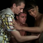 Playful black girl goes dogging for  the first time